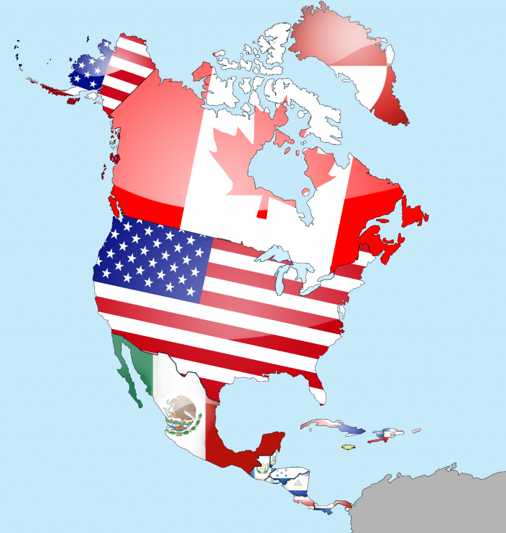 North_America_Flag_Map_by_lg_studio